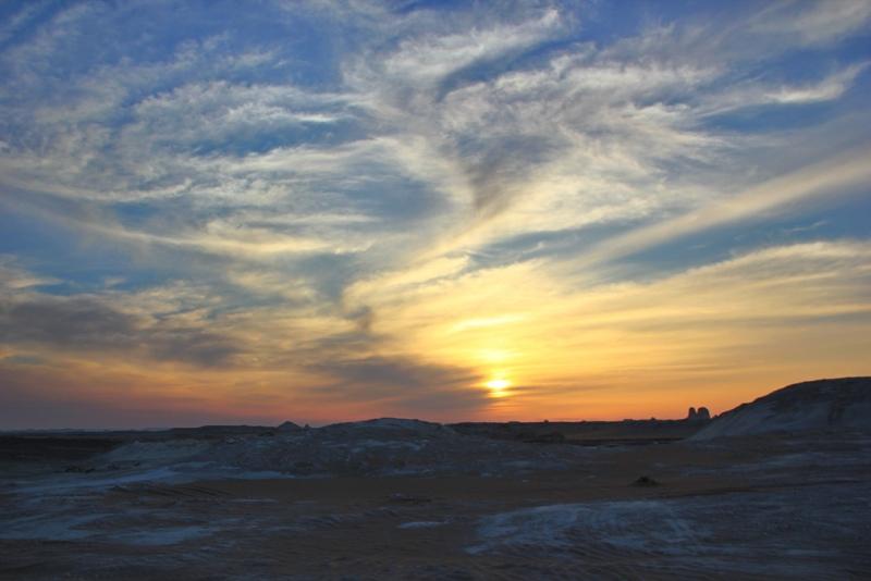 Sunset at White Desert