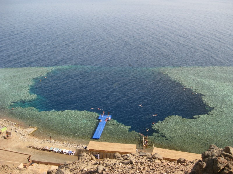The Blue Hole in Dahab Sinai