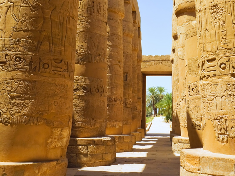 The great Columns in Karnak Temples