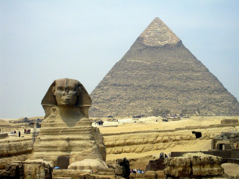 Giza Pyramids and the great Sphinx in Giza