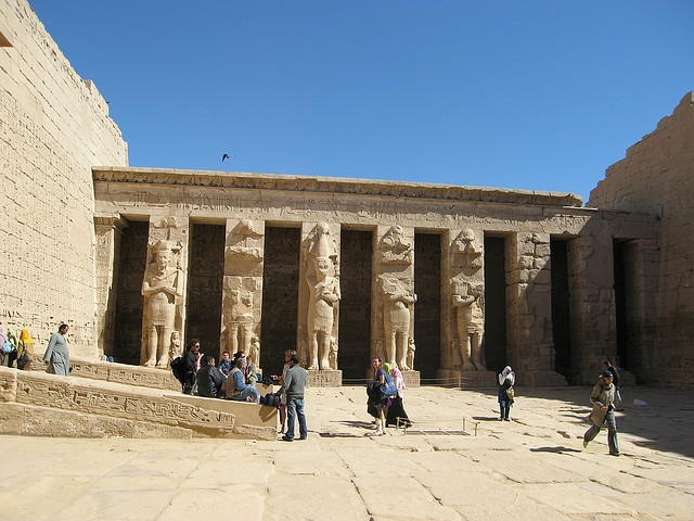 Colonnade at Madinet Habu Temple