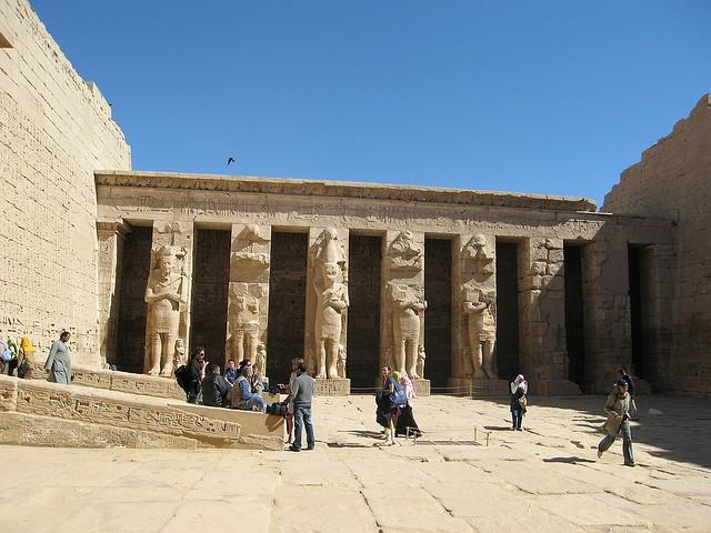 Colonnade at Madinet Habu Temple