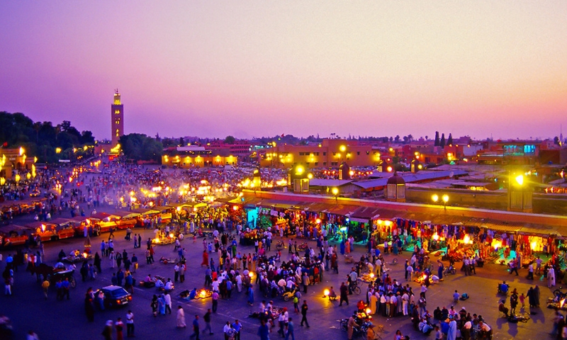 Marrakech a partir do porto de Casablanca