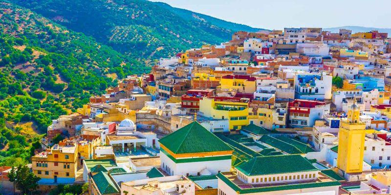 A Cidade de Moulay Idriss ( Marrocos )