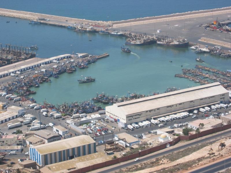 El puerto de Agadir.