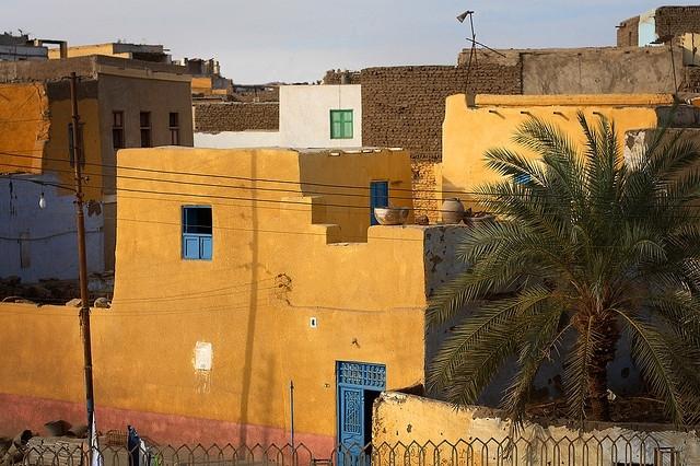 Paysage de l'île Elephantine, village Nubien