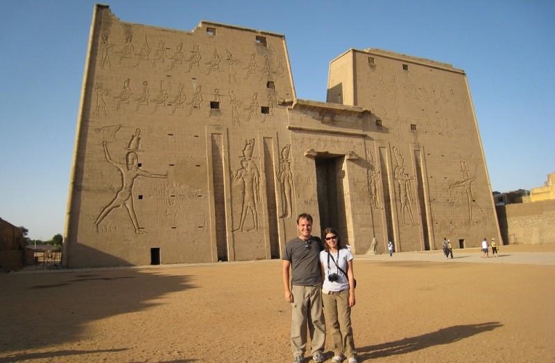 Edfu Temple in Upper Egypt