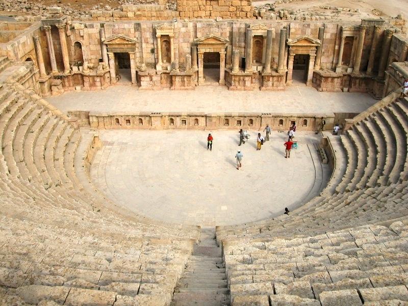 The South Theater Of Jerash Jordan