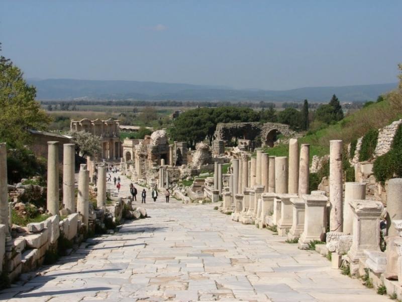 La calle de marbel de Éfeso