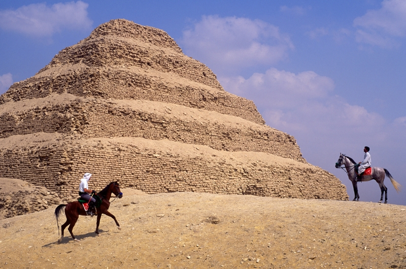The Step Pyramids at Sakkara, Egypt