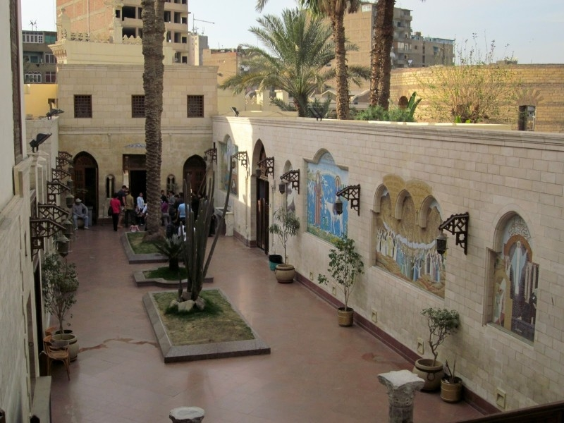 Mosaic Artwork of Saints and Desciples at the Entrance