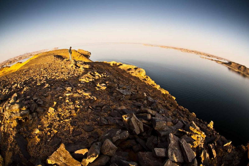 Fishing in Lake Nasser