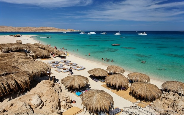 Wunderschöner Strand in Hurghada