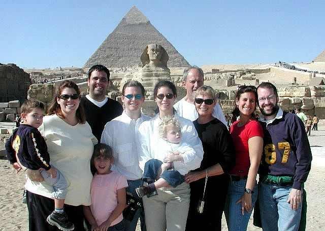 Les Pyramides de Gizeh en famille