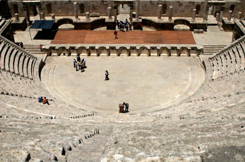 The Roman Theater in Petra