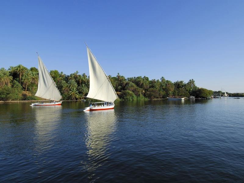 Das Nil in Luxor