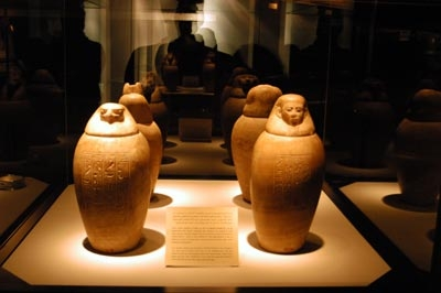 Canopic Jars at Luxor Musuem