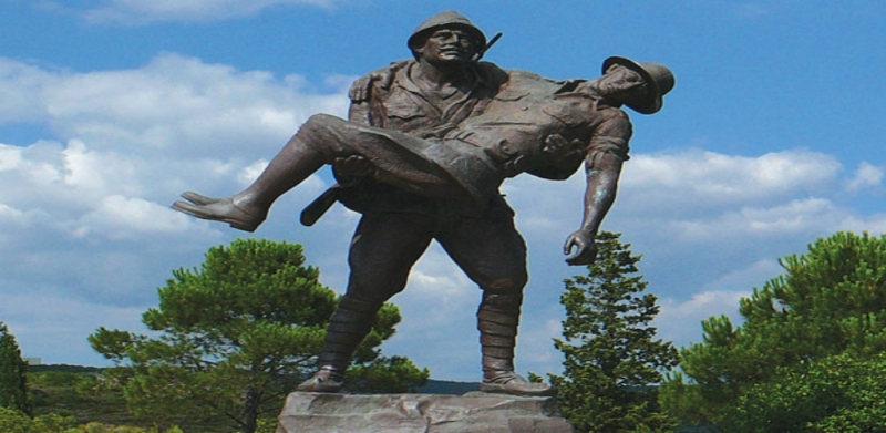 Soldiers Statue at Gallipoli, Turkey
