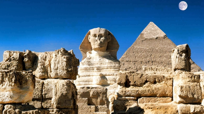 Pyramid of Kharfe and The Great Sphinx