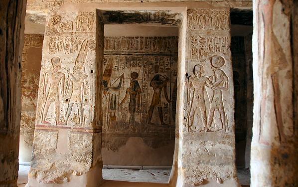 Reliefs, Temple d'Amada