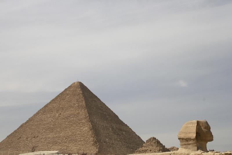 Sphinx and Giza Pyramids