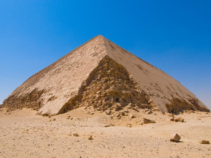 The Bent Pyramid at Dahshur , Cairo