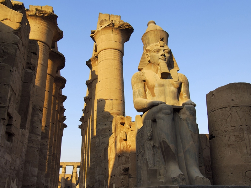 Statue of Ramses II in Luxor Temple