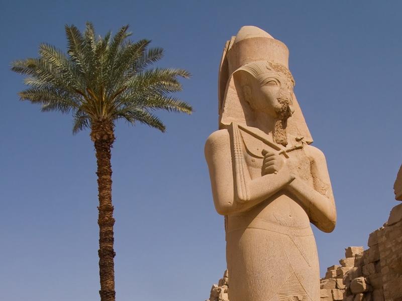 Statue of Ramesses II in Karnak Temple