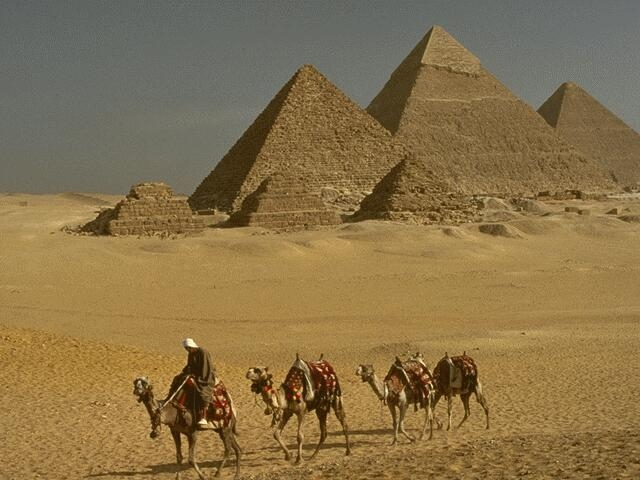 Amazing view of Giza Pyramids