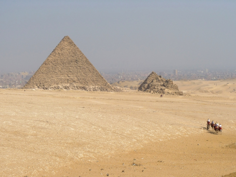 Pyramid of Menkaure in Giza Plateau