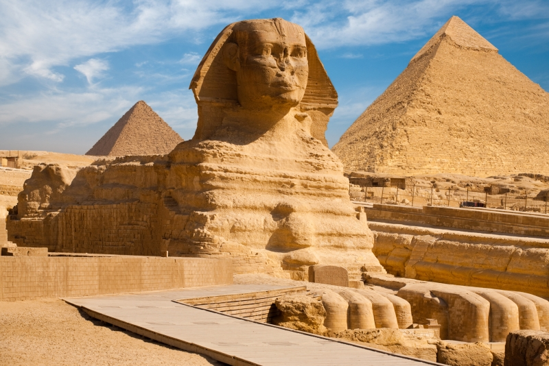Pyramids of Giza and Sphinx