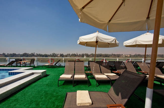Minerva Nile Cruise Pool and Spa