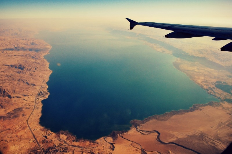 The Dead Sea View from the Air