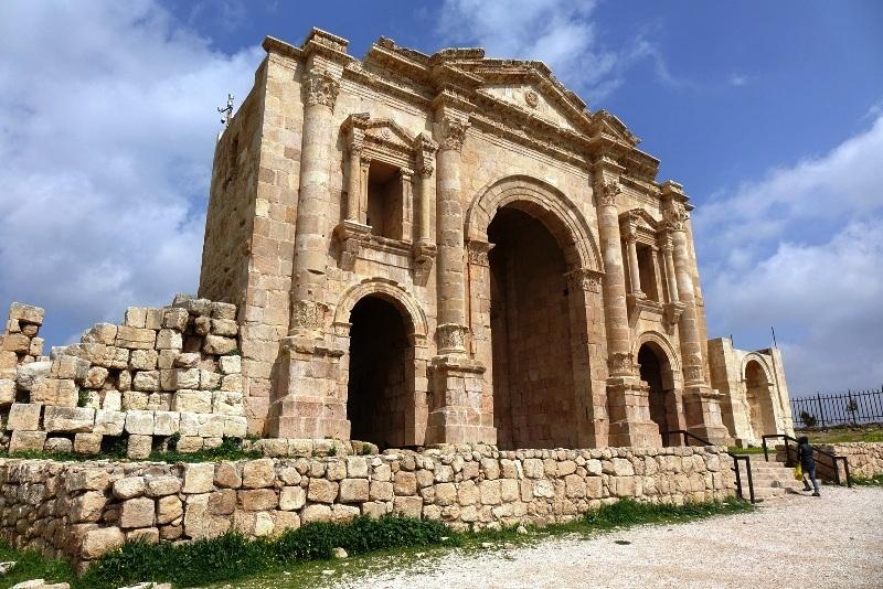 Hadrian's Arch in Jerash.