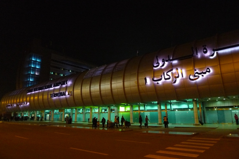 Cairo Airport At Night