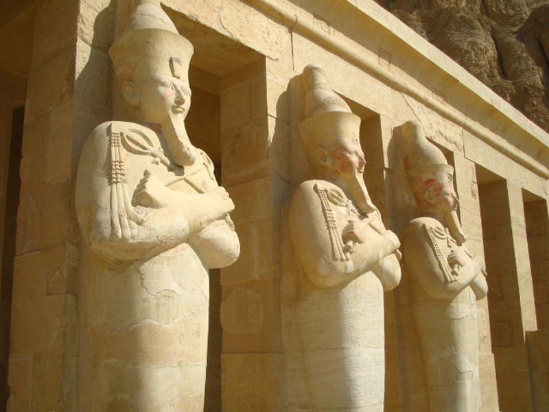 Inside the Temple of Queen Hatshepsut