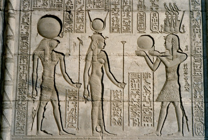 Reliefs Inside Dendera Temple in Luxor