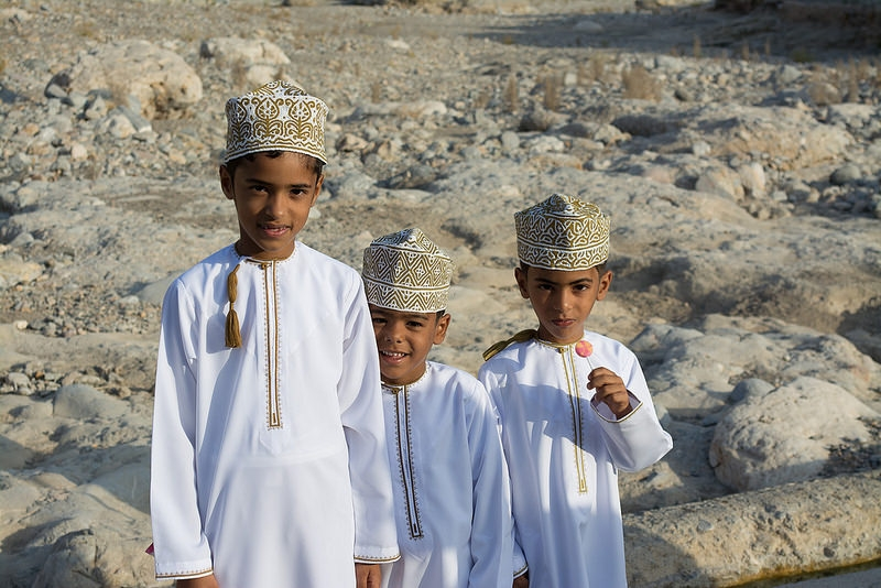 Omani Boys in Eid