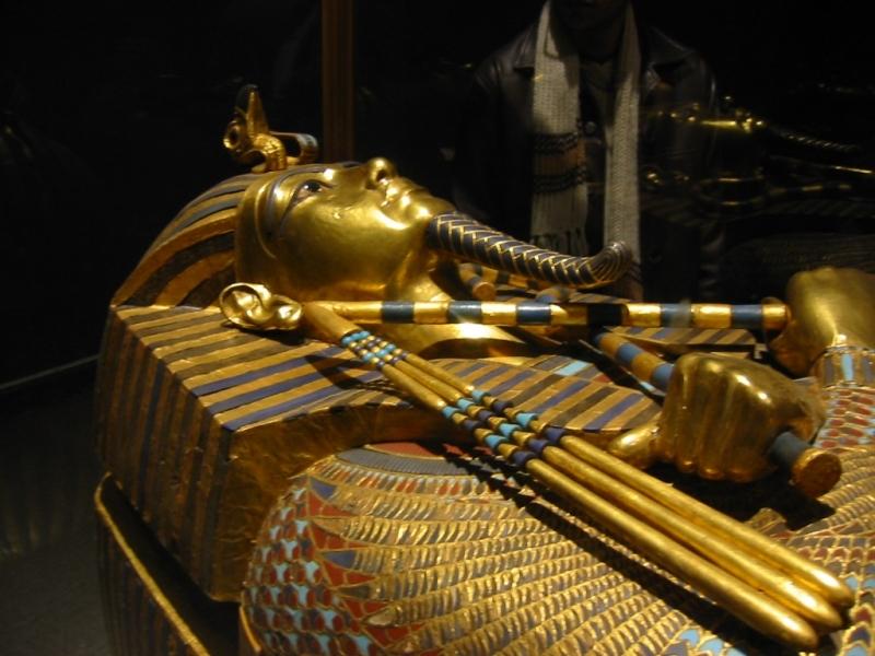 Caixão de ouro de Tutancâmon no Museu Egípcio,Cairo
