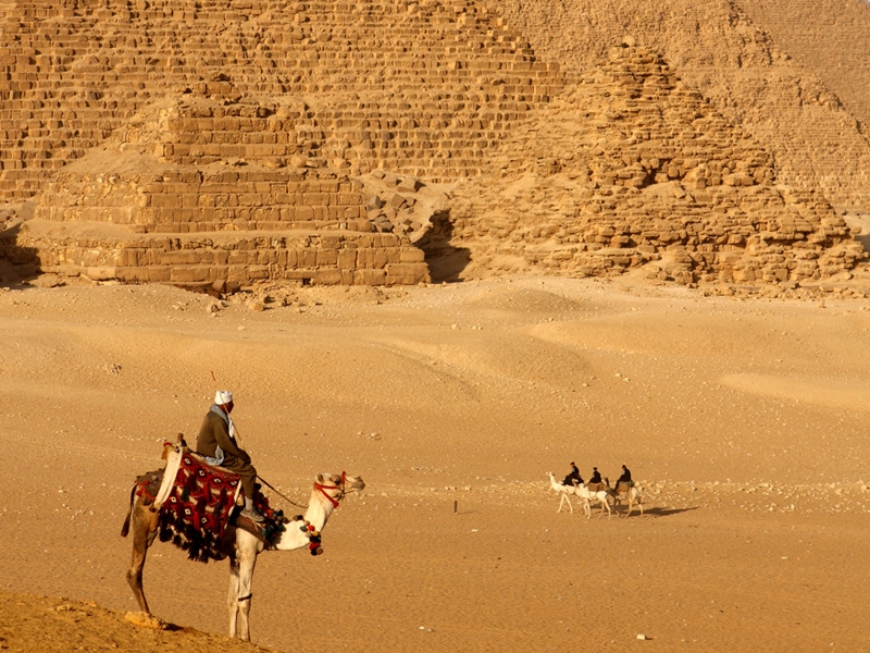 Giza Pyramids in Egypt