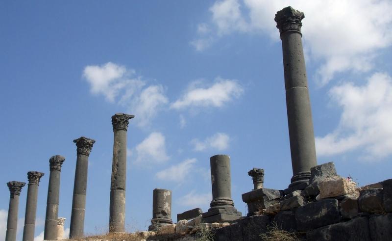 Greco Roman Columns in Umm Qais