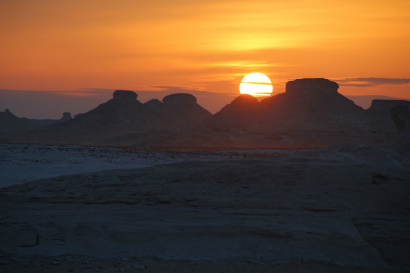 Sunset at white Desert