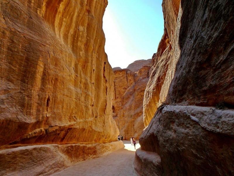 Le Siq, canyon, menant à la Trésorerie