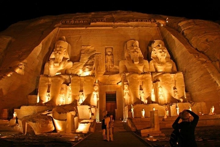 The Temple of Rameses II At Night