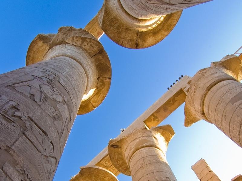 Huge Colonnade in Karnak Temple