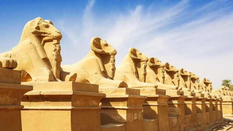 Valley of the Sphinxes in Luxor
