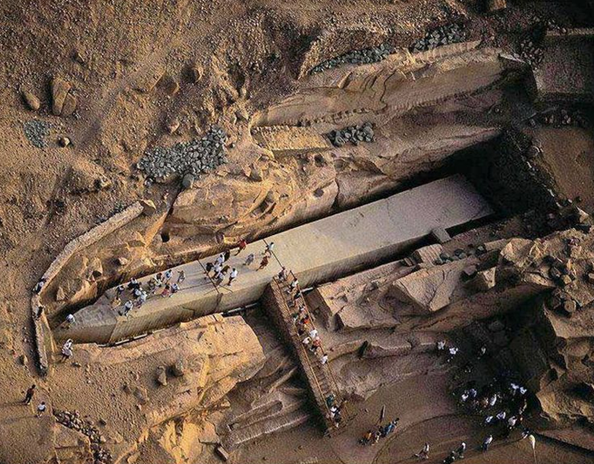 The Unfinished Obelisk in Aswan, Egypt