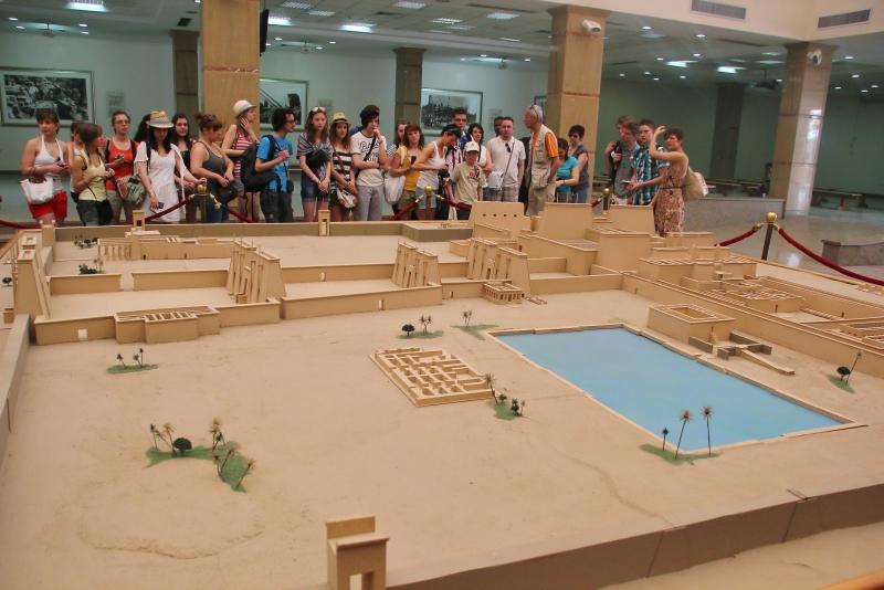 The visitor center of Karnak Temple