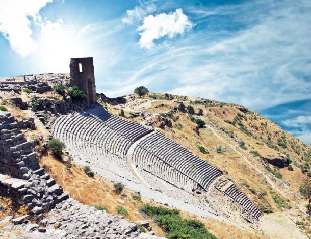 Hellenistic theater on the acropolis in Pergamum