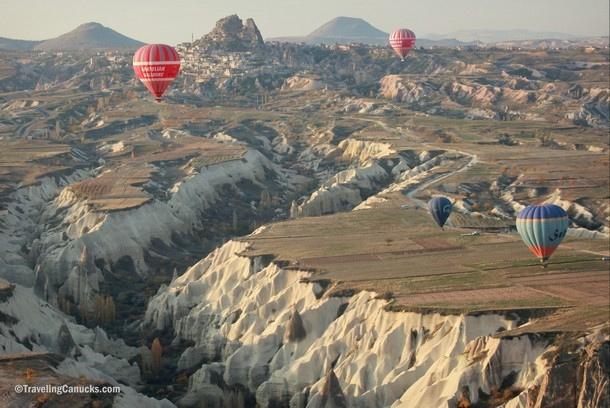 Hot Air Balloon Floating over Cappadocia